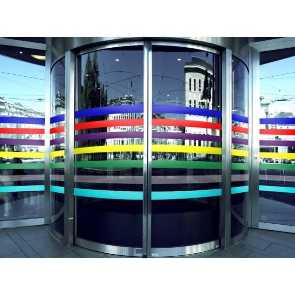 Bandes de signalisation - surfaces vitrées