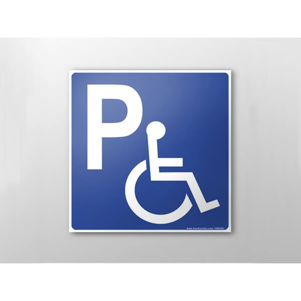 panneau de parking r serv handicap plat couvre chant. Black Bedroom Furniture Sets. Home Design Ideas
