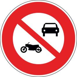 Panneau Interdit aux véhicules à moteur