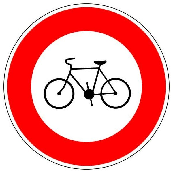 Panneau Interdit aux cyclistes