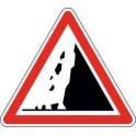 Panneau Attention Chutes de pierres