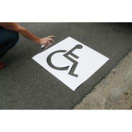 Kit Pochoir Stationnement Handicap ECO