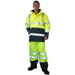 Ensemble Veste + pantalon de sécurité FLASH - protection pluie