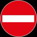 """panneau rond """" Entrée interdite aux véhicules """""""