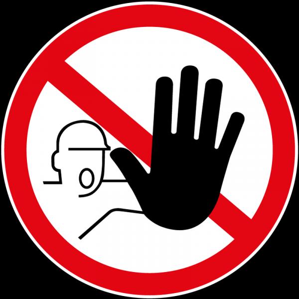 """Panneau rond """"Accès interdit aux personnes non autorisées"""""""