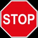 """panneau """" stop """""""