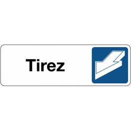 Panneau de Signalétique Tirez - horizontal