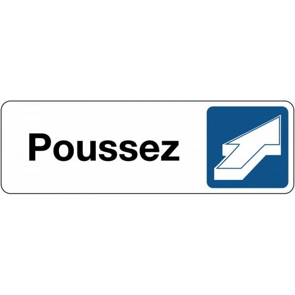 Panneau de Signalétique Poussez - horizontal