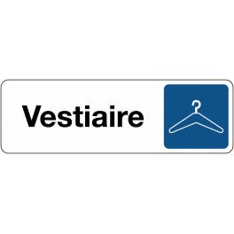 Panneau de Signalétique Vestiaire - Fond Blanc