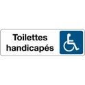 Panneau de Signalétique Toilettes Handicapés - Fond Blanc