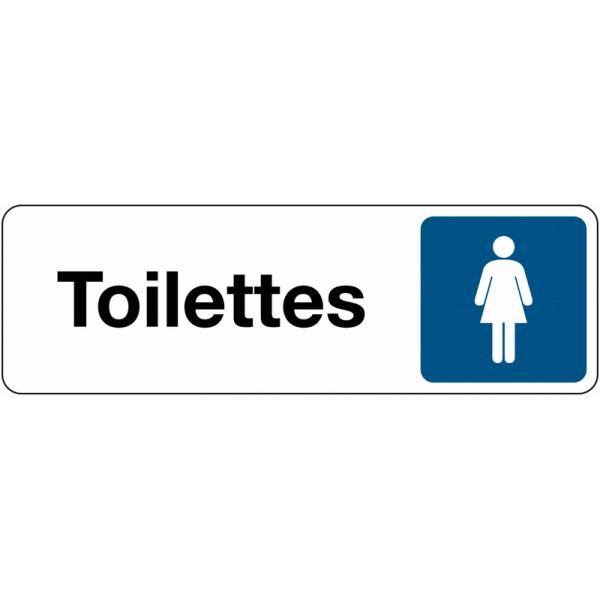 Panneau de Signalétique Toilettes Femme Standard - Fond Blanc