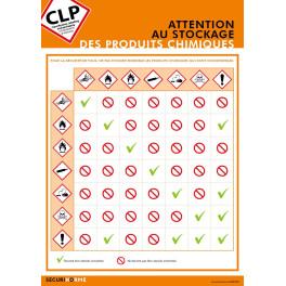 Poster CLP Les Stockages des Produits Chimiques