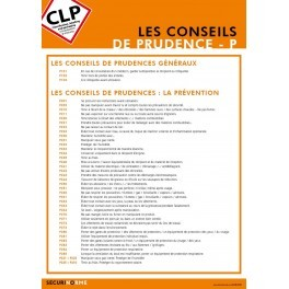 Poster CLP Les Conseils de Prudences P