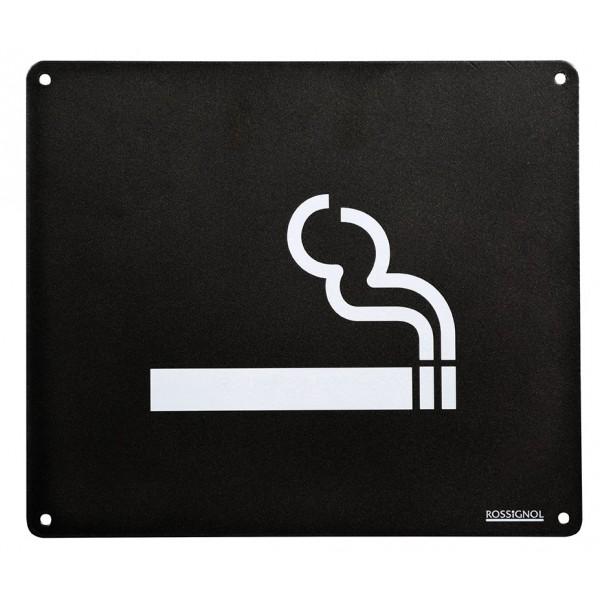 plaque signal tique s rigraphi e avec indication espace fumeur pour cendrier. Black Bedroom Furniture Sets. Home Design Ideas