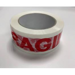 """Ruban adhésif blanc imprimé """"Fragile"""""""