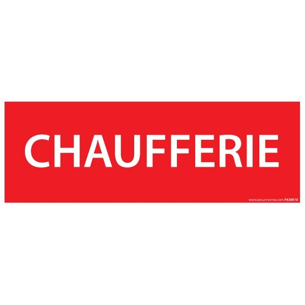 Pictogramme Chaufferie 210 x 75 mm