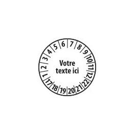 Pastille calendrier personnalisable en Polyester laminé blanc