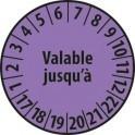 Pastille calendrier personnalisable en Polyester laminé violet
