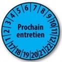 Pastille calendrier personnalisable en Polyester laminé bleu