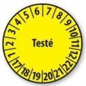 Pastille calendrier personnalisable en Polyester laminé jaune