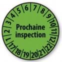 Pastille calendrier personnalisable en Polyester laminé vert