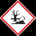 Pictogramme SGH09 Danger pour l'Environnement en vinyle laminé 40x40mm