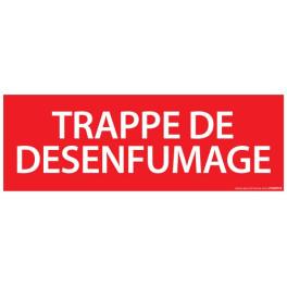 Pictogramme Vinyle Trappe de desenfumage 210*75 mm