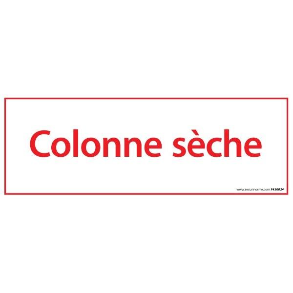 Pictogramme Vinyle Colonne seche 210*75 mm
