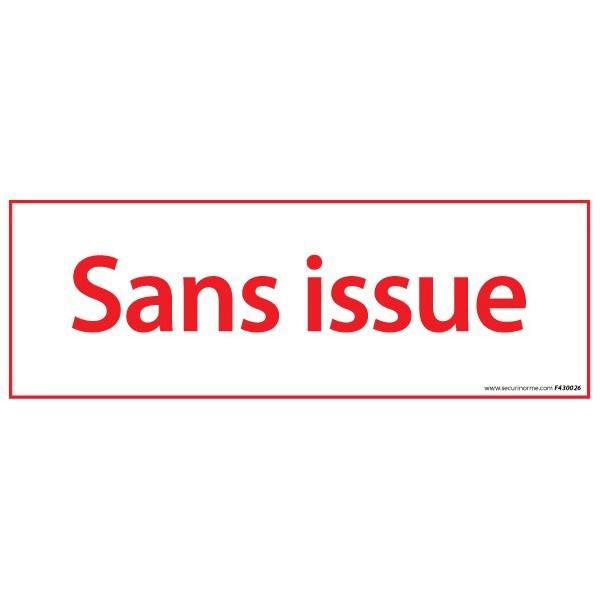 Pictogramme Vinyle Sans issue 210*75 mm