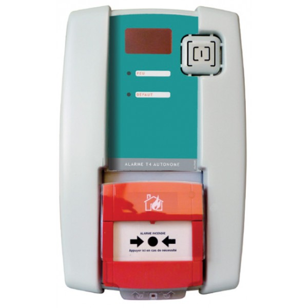 Alarme incendie de type 4 autonome avec flash permettant d'alerter les personnes en cas d'incendie y compris les sourds ou malentendants