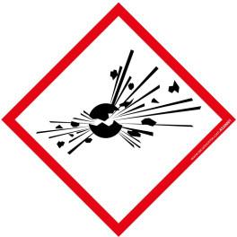 Pictogramme Matières explosives SGH01 40x40 mm ou 100x100mm