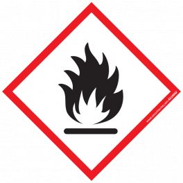 Pictogramme Solides Inflammables SGH02 40x40 mm ou 100x100mm