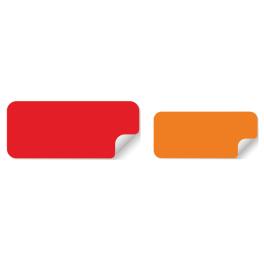 Pastilles rectangulaires vierges 40x18mm ou 50x20mm - plusieurs couleurs
