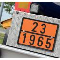Plaque pour camion vierge en vinyle 400x300mm
