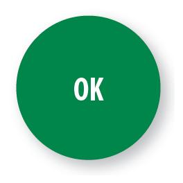 "Pastilles adhésives permanentes avec texte ""OK"""