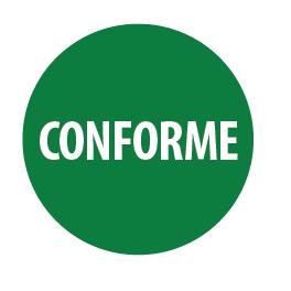 """Pastilles adhésives permanentes avec texte """"Conforme"""""""