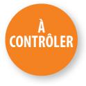 """Pastilles adhésives permanentes avec texte """"A contrôler"""""""