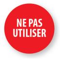 """Pastilles adhésives permanentes avec texte """"Ne pas utiliser"""""""
