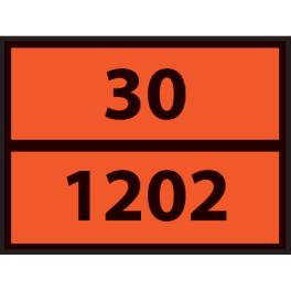 Plaque ADR pour camion HUILES 400x300mm