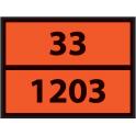 Plaque ADR pour camion Hydrocarbures liquides - 400x300mm