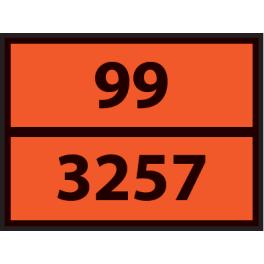 Plaque ADR pour camion Produits Bitumeux Chauds - 400x300mm