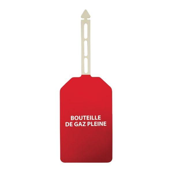 """Plaquettes d'inspection à suspendre """"Danger"""" + texte """"Bouteille de gaz pleine"""""""