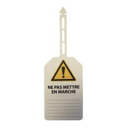 """Plaquettes d'inspection à suspendre """"Danger"""" + texte """"Ne pas mettre en marche"""""""