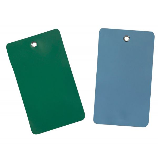Plaquette d'inspection / Etiquettes PVC Oeillets métal 5 formats - 5 couleurs