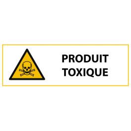 """Panneau de Danger """"Produit toxique"""" Vinyle 297x105mm"""