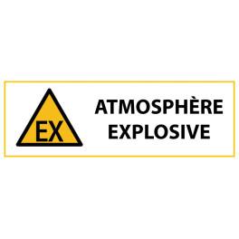 """Panneau de Danger """"Atmosphère explosive"""" Vinyle 297x105mm"""