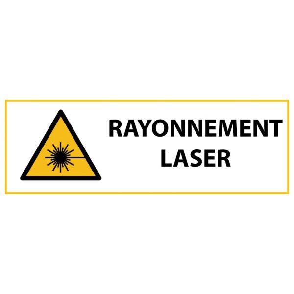"""Panneau de Danger """"Rayonnement laser"""" Vinyle 297x105mm"""