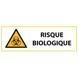 """Panneau de Danger """"Risque biologique"""" Vinyle 297x105mm"""