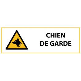 """Panneau de Danger """"Chien de Garde"""" Vinyle 297x105mm"""