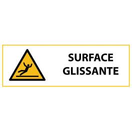 """Panneau de Danger """"Surface glissante"""" Vinyle 297x105mm"""